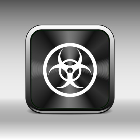 emanation: sign radiation vector icon caution nuclear atom power.