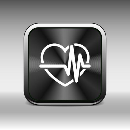 cardiac: Heartbeat Echocardiography Cardiac exam Form of heart and heartbeat. Illustration