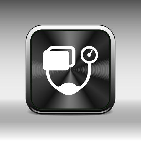 hypertensive: Tonometer flat Icon. Blood Pressure Checker medical.