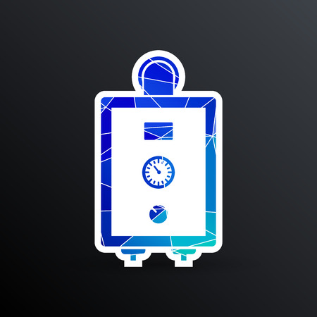 boiler gas icon water symbol household equipment .