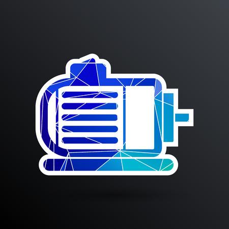 Électrique icône moteur symbole de la puissance moteur vectoriel.