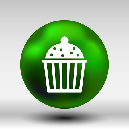 vector symbol: Logo cake cupcake vector symbol label design.