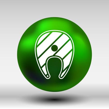 simple logo: Banana vector Fruit infographic logo simple icon.