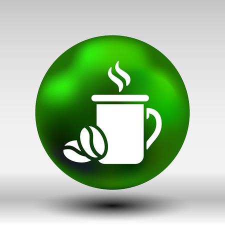 ides: Coffee cup vector logo design template. Cafe shop emblem.
