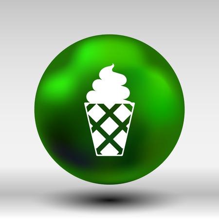 alimentos congelados: Helado vector logo icono congelado, comida. Vectores