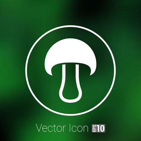 button mushroom: Mushroom sign icon. Boletus mushroom symbol concept. Illustration