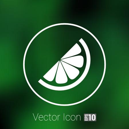 pilule: Vector logo elemento en vitaminas rodaja de naranja.