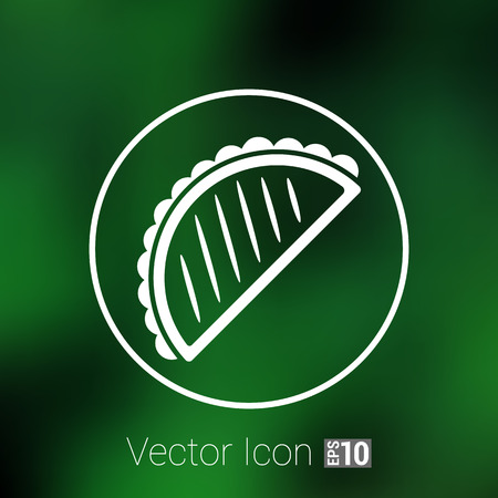 food art: Mexican fast food vector logo design template. tacos or food icon.