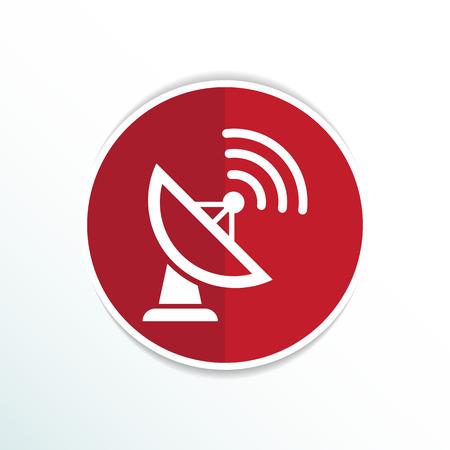 Radar Vector icon Satellitenschüssel TV-Technologie.
