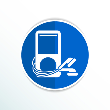 original design: mp3 player - Original design  icon screen stereo vector. Illustration