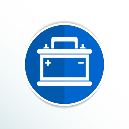 electric power: car battery icon vector electric power sign. Illustration