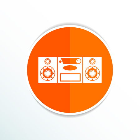 acoustic systems: Music center icon Vector illustration art audio. Illustration