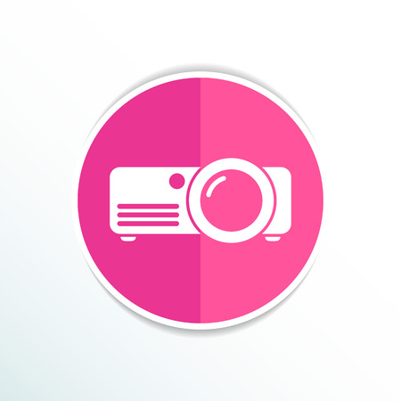 rounded squares: projector icon Rounded squares button vector symbol.