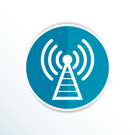 Antenna icon tower radio mast signal antenna vector network. Ilustracja