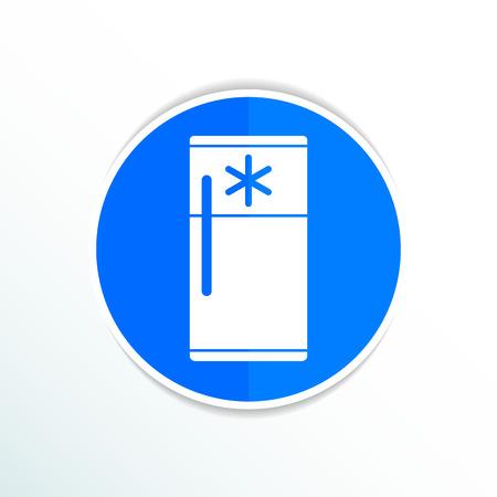 refrigerator kitchen: refrigerator icon cold kitchen object furniture electric.