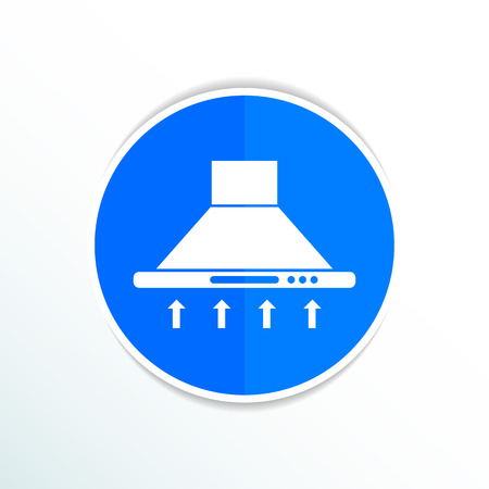 extractor: Kitchen hood  icon symbol extractor vector sign. Illustration