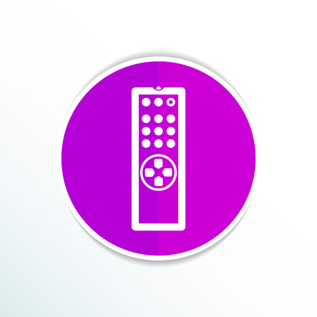 remote: Remote control tv vector icon isolated media. Illustration
