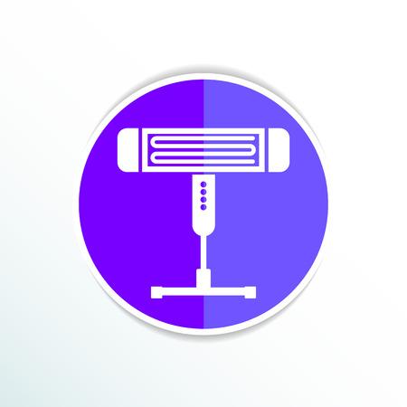 calentador: Calentador el�ctrico vector icono ilustraci�n luz energ�a.