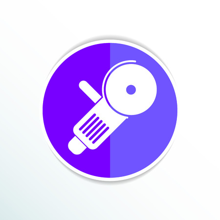 angle grinder: Simple icon angle grinder electro vector work. Illustration