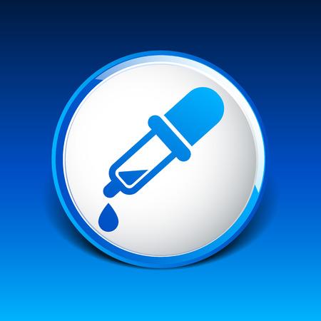 dropper: dropper vector icon picker tube chemistry pipet. Illustration