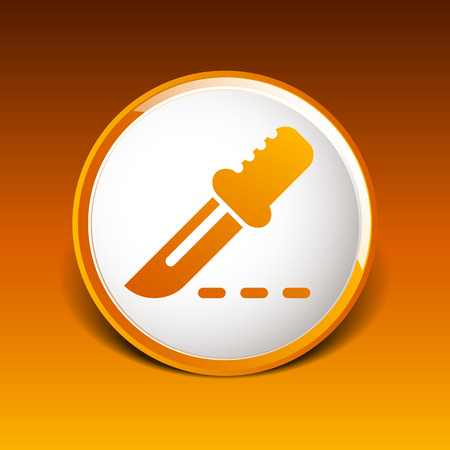 incision: Scalpel Icon on Square Black Internet Button