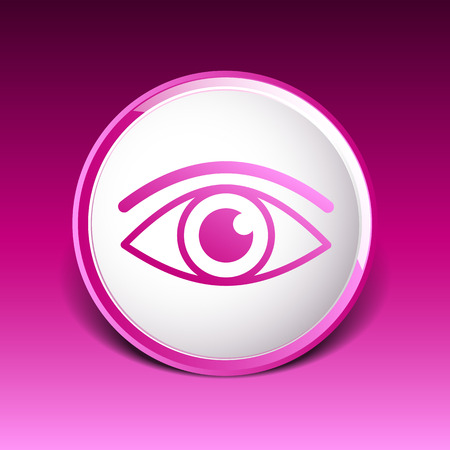 regard: ic�ne Eye symbole vecteur vision regarder pictogramme graphique.