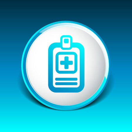 medical check: Medical records icon medical check health doctor document. Illustration