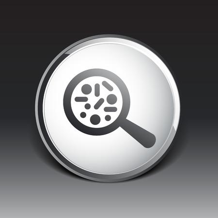 microbiologia: Vector icono Bioqu�mica Microbiolog�a Microorganismos Bacterias de laboratorio. Vectores