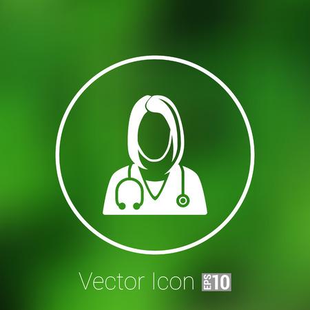 doctor icon: icon doctor closeup medical graphic design vector illustration.