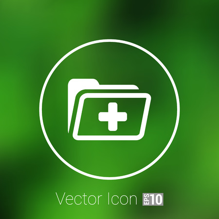 patient chart: Medical health record folder flat icon for healthcare. Illustration