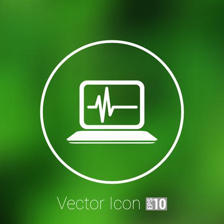 diagnosing: computer diagnostics icon laptop test isolated technical. Illustration