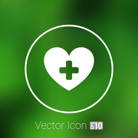 endurance: Heart beat rate icon, fitness and exercises concept vector illustration. Illustration