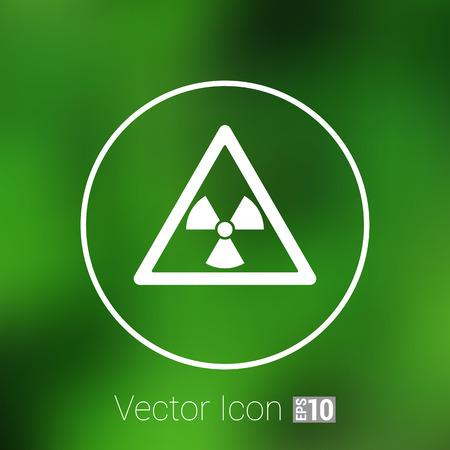 radioactivity danger logo: sign radiation vector icon caution nuclear atom power.