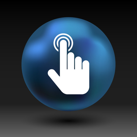 click hand: click. hand icon pointer vector finger pointer.