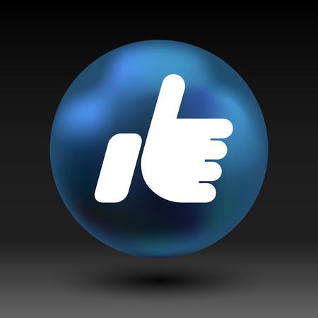 face book: como aislado icono de l�nea vector esquema bien. Vectores