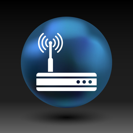 hub: Vector wireless router icon wifi adsl ethernet modem hub .