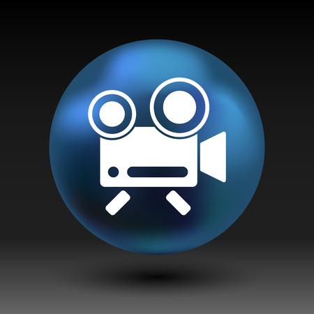 simbol: icona isolato sedia registrazione videocamera piazza simbol. Vettoriali