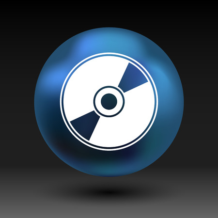 cdr: Vector CD or DVD icon disc vector compact disk audio media. Illustration