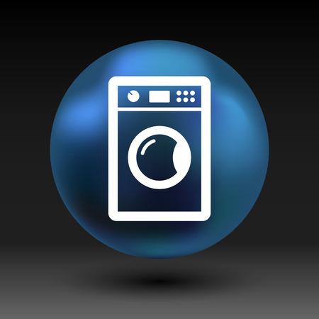 laundromat: washing machine icon laundromat vector clothing electric clear . Illustration