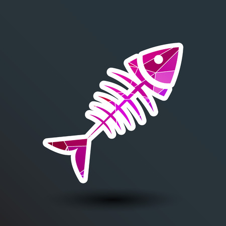 barebone: fish menu vector design template logo icon. Illustration