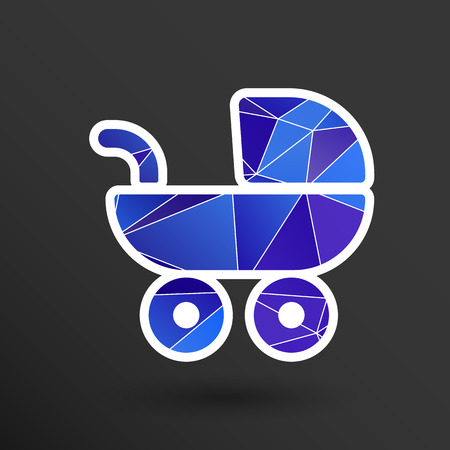 babysitter: baby stroller icon, maternity wheel illustration born pram.