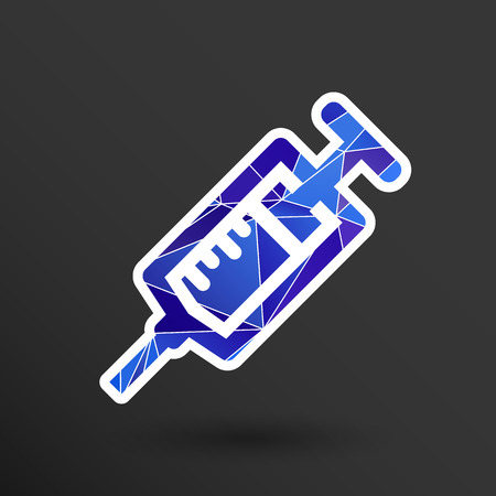 injector: Syringe icon vector isolated disposable white medical. Illustration