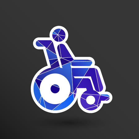 handicap handicapped chair wheel accessible an invalid icon.