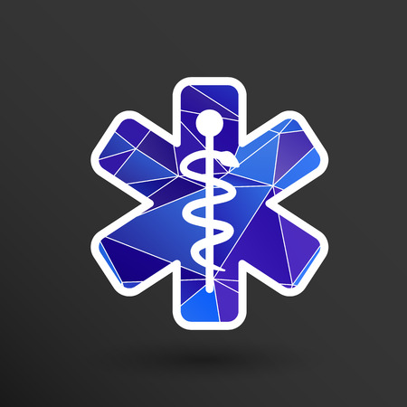 Medical icons silhouette vector illustration doctor hospital Çizim