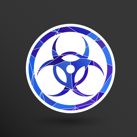 caesium: sign radiation vector icon caution nuclear atom power.