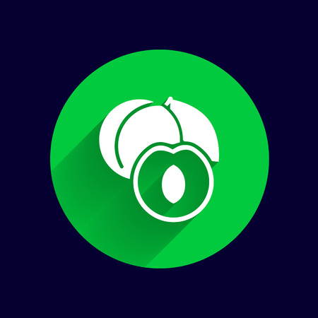 food logo: Healthy food logo design concept. Fruit and juice icon theme. Organic food unique symbol.