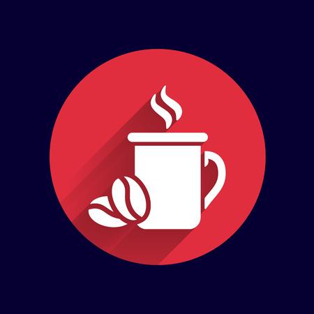 cafe shop: Coffee cup vector logo design template. Cafe shop emblem.