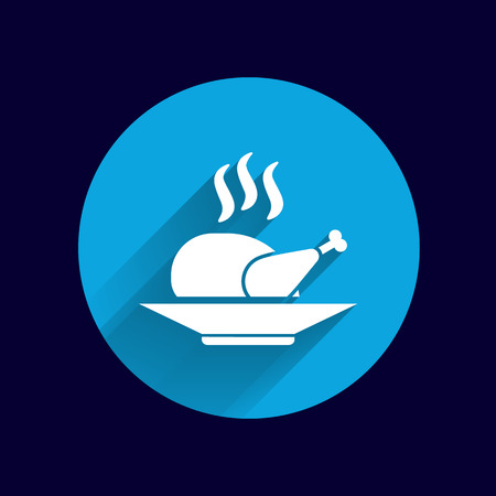 chicken grill: chicken grill icon logo hot meal cooking.