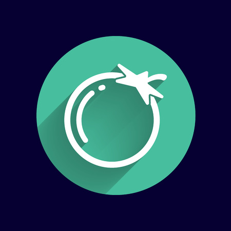 simple logo: Simple Tomato vector symbol icon useful for logo.