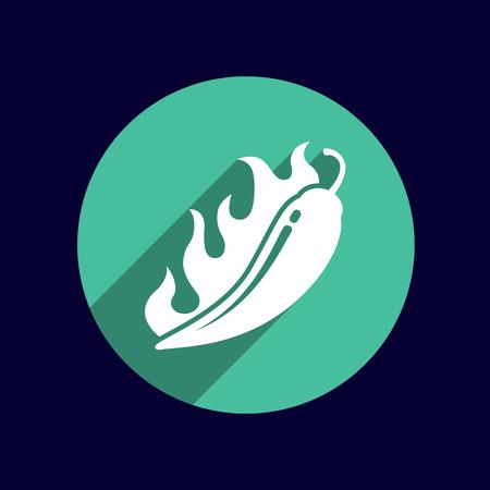 paprika: Hot chilli, vector illustration pepper logo isolated paprika. Illustration